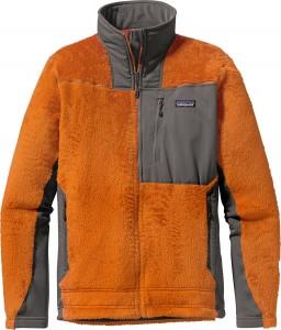 Orangefarbene Patagonia Outdoor-Jacke
